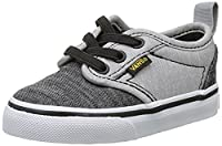 Vans Baby Boys TD Atwood Slip-on Walking Shoes, Grey (Chambray Black/Gray), 9.5 Child UK 26 1/2 EU