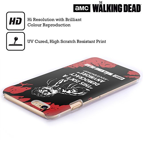 Ufficiale AMC The Walking Dead Dead Inside Tipografia Cover Retro Rigida per Apple iPhone 4 / 4S Ricktatorship