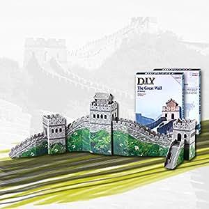 Jigsaw - 3D tridimensionnelle Intelligent Grande Muraille de Chine Livre Puzzle bricolage jouet vert