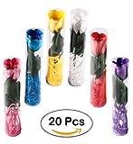 Lote 20 Flores Rosas de Pétalos de Jabón en Caja de Regalo - Jabones...