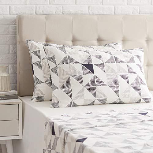 AmazonBasics - Funda de almohada de satén - 40 x 80 cm x 2, Multicolor Diamond Fusion