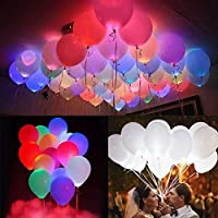 Party Propz Pack Of 20 LED Balloons (Heavy 2.8 Grams) for Birthday Party, Celebrations