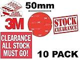 Just3m clair double face Acrylique VHB 3m rond/cercle Coussinets ~ 50mm x 50mm x 1mm d'épaisseur Autocollant ruban adhésif