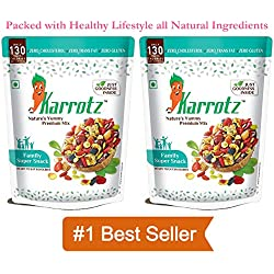 Karrotz – Healthy Mix of Top Quality Berries, Fruits, Nuts, Seeds & Grams for Breakfast, Topping or Snacking (2 X 100gms packs of Family SuperSnack)