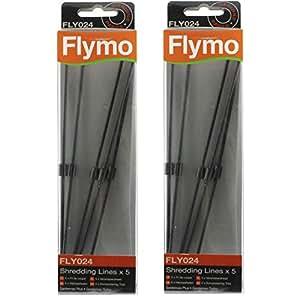 FLYMO Gardenvac Turbo 1800 Souffleur de broyage pour aspirateur 2200 Lot de 10 lames)