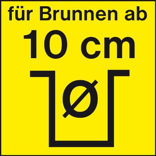 T.I.P. 30086 Tiefbrunnenpumpe Edelstahl AJ 4 Plus 100/57, bis 6.000 l/h Fördermenge -