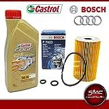5 Litri Olio Castrol Edge 5W30 + Filtro Olio Bosch