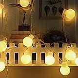 AI-Light Globe LED Lichterkette, 6M 40er Kugel LED Lichterkette Wasserdicht,Innen- und Außen Deko Glühbirne, Weihnachtsbeleuchtung für Party, Garten, Weihnachten, Halloween, Hochzeit.[Energieklasse A+++]