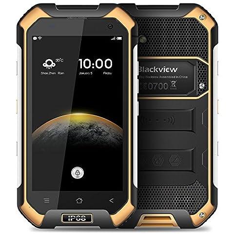 BlackView BV6000S Android 6.0 4,7 Pouces 4G Smartphone MTK6737 1,5 GHz Quad Core RAM de 2 Go & ROM de 16 Go NFC GPS Étanche Anti-choc (Orange)