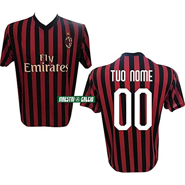 Maglia Milan 2021 ufficiale personalizzata nome numero adulto ragazzo bambino