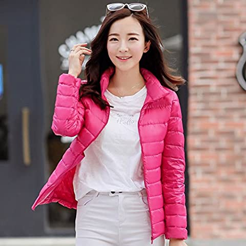 WJP mujeres ultra ligero de la chaqueta poco voluminoso abajo Outwear amortiguar por la chaqueta W-2624