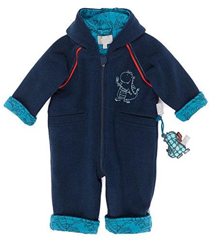 Sigikid Baby-Jungen Jacke Fleece Overall, Blau (Mood Indigo 275), 80 (Baumwolle Koch-mantel 100%)