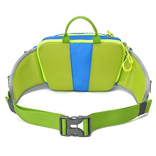 SHOWTIMEZ Gürteltasche Wasserabeweisende Bauchtasche Hüfttasche als Daypack Taille Tasche für Morgen Laufen Reisen Wandern Blau