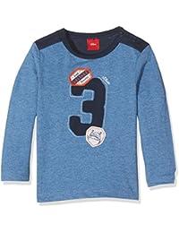 s.Oliver Baby-Jungen Spieler T-Shirt Langarm, Blau (Blau Melange 5385), 92