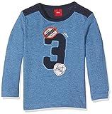 s.Oliver Baby - Jungen Spieler T - SHIRT LANGARM 65.707.31.7154, Einfarbig, Gr. 80, Blau (Blau Melange)