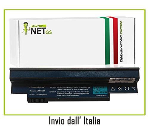Galleria fotografica UM09G31 Batteria per Packard Bell dot S2 (5200mAh, 10.8V - 11.1V, nero) Litio-Ioni Batterie NewNet …