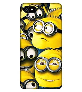 For Lenovo ZUK Z2 :: Lenovo Zuk Z2 Plus yellow cartoon, cartoon, big eye, many cartoon Designer Printed High Quality Smooth Matte Protective Mobile Case Back Pouch Cover by APEX