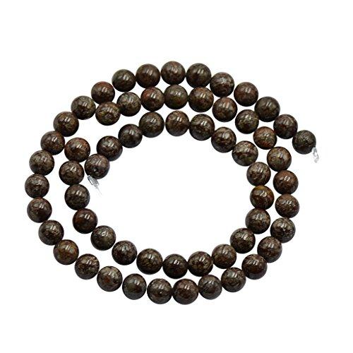 6mm Kaffee Braun Schneeflocken Obsidian Jaspis-lose Perlen 15 \ '\' Round -