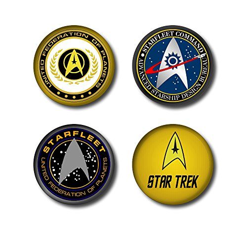 Price comparison product image Four Star Trek Badges (25mm) - £2.50 + £1 UK DELIVERY (See buying options)