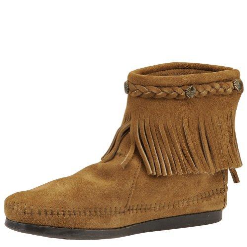 Minnetonka - Hi Top Back Zip Boot, Stivale da donna Taupe