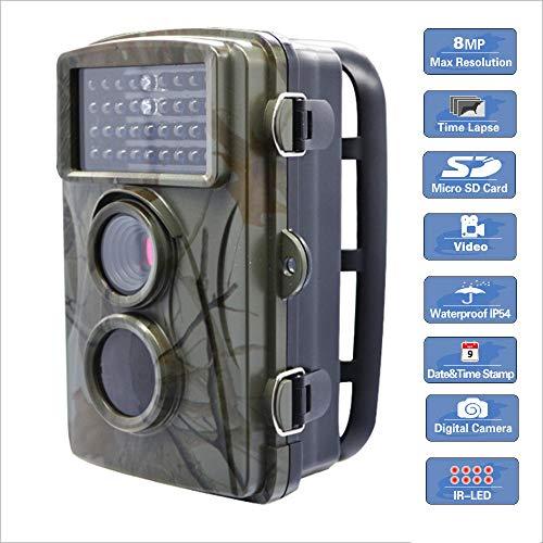 Meteor fire Wildlife Trail Kamera-Falle, wasserdichte Jagdkamera mit Infrarot-Nachtsicht bis zu 65 ft / 20 m Auslösezeit 0,6 s, für Natur im Freien, Garten, Haussicherheitsüberwachung
