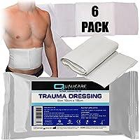qualicare 10cm x 18cm Trauma FFD Bandage Wunde Blut Haemorrhage Dressing X 6 preisvergleich bei billige-tabletten.eu