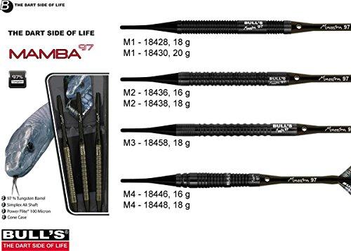 Bull´s Mamba 97 - 97% Black Titanium Tungsten Soft - Dartpfeile