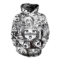 Anime Hoodies Sweatshirt Autumn Winter Men's Long Sleeve Pullovers 3d Print Tracksuit Plus Size (Anime Hoodie, L)
