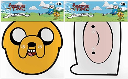 (Twin Pack - 2 Official Adventure Time Face Masks)