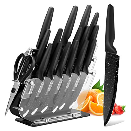 Knife Set, HOBO 17-Piece Kitchen...
