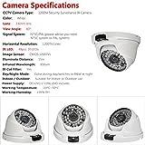 SW 1200TVL Smart Home Kamera Sicherheitssystem /HD Überwachungskamera Dome Outdoor (Leistungsstarke IR LEDs, Infrarot Nachtsicht, Weitwinkel, wetterfest Bewegungserkennung, 48 LEDs) weiss - 3