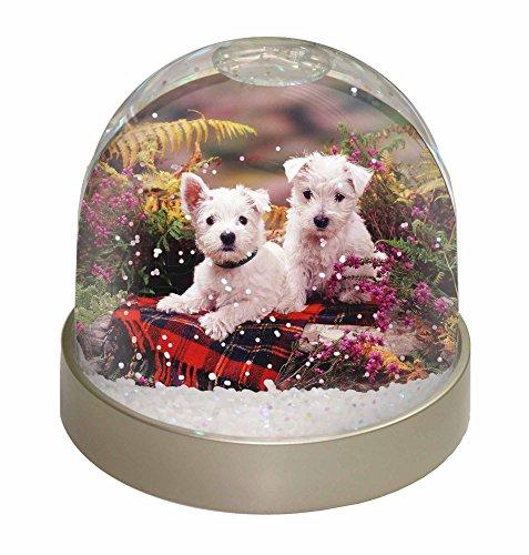 Advanta West Highland Terrier Schneekugel Weihnachten Geschenk, mehrfarbig, 9,2x 9,2x 8cm (Decke Highland West)