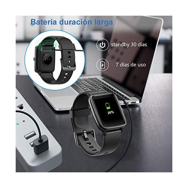 Willful Smartwatch,Reloj Inteligente con Pulsómetro,Cronómetros,Calorías,Monitor de Sueño,Podómetro Pulsera Actividad Inteligente Impermeable IP68 Smartwatch Hombre Reloj Deportivo para Android iOS 7
