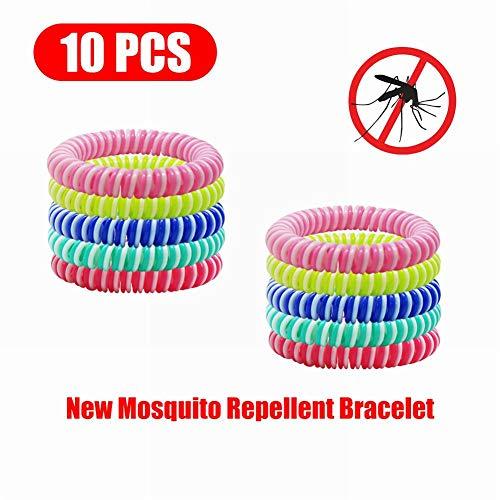 Imagen de poehxtyy 10/20 unids mosquito pulsera repelente de mosquitos a base de plantas naturales repelente de mosquitos pulseras bandas para niños adultos mascotas