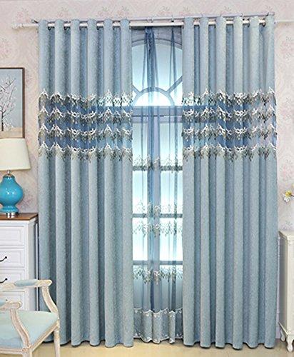 Tende cortina ricamata in rilievo tridimensionale filati in salotto, camera da letto, camera da letto, il balcone, piena ombra panno tende.,b,100 x 270 cm (w x h) x 2,