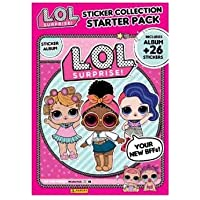 L.O.L Panini Suprise Sticker Collection Starter Pack - Album and 26 Stickers