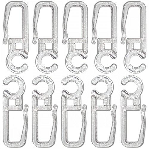 Agrafes crochets transparents pour rideaux diamètre 5mm - lot de 50