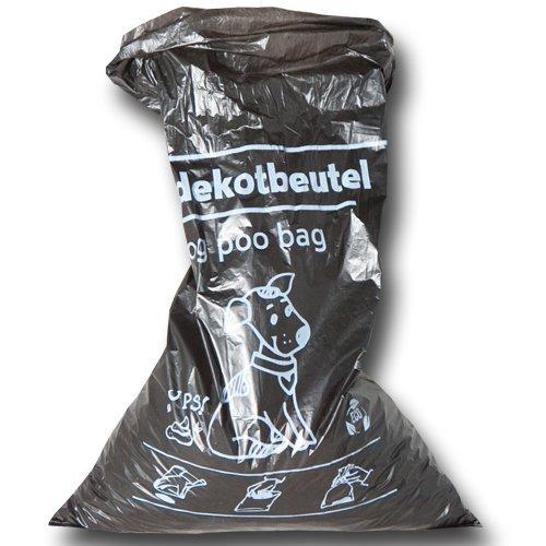 2000 Stück Hundekotbeutel 21×32+3,5 cm – zu 100 Stück geblockt – Der Umwelt zuliebe aus 100% Recycling Material! - 4