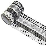 K-LIMIT 4 Set Washi Tape rollos de Washi Tape, cinta decorativa autoadhesivo, cinta de enmascarar, masking tapemasking tape scrapbooking, DIY 6262