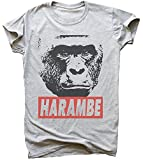 idcommerce Harambe Design Herren T-Shirt Medium
