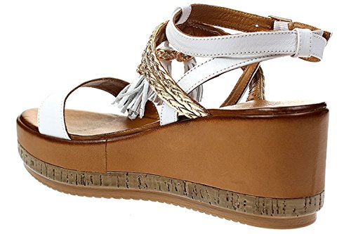 Inuovo 7388 Sandales Femme Blanc
