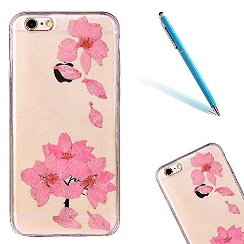 """iPhone 6s Schutzhülle, iPhone 6 Soft TPU Handytasche, CLTPY Modisch Durchsichtige Rückschale im Getrocknete Blumenart, [Stoßdämpfung] & [Kratzfeste] Full Body Case für 4.7"""" Apple iPhone 6/6s + 1 Stylu Floral 28"""