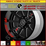 MV Agusta F3 F4 Brutale Rivale adesivi ruote interno strisce cerchi decalcomanie strip cerchioni Cod. 0300 (031 Rosso)