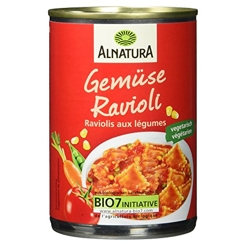 Alnatura Bio Gemüse-Ravioli, vegan, 6er Pack (6 x 400 g)