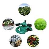 OUNONA Rasensprenger Garten Sprinkler Auto Spinning Wasser Sprinkler,3 - Arm Garten Sprinklerpumpen Rasen Sprinkleranlage