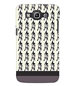 PrintDhaba A Pattern D-1949 Back Case Cover for SAMSUNG GALAXY QUATTRO (Multi-Coloured)