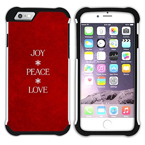 Graphic4You Frieden Liebe Die 60 Hart + Weiche Kratzfeste Hülle Case Schale Tasche Schutzhülle für Apple iPhone 6 / 6S Design #6