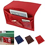 Bedside Caddy Storage Organizer Hanging Bag,Oenbopo Chair Desk Sofa Slipcovers TV Remote Controller Holder Organizer Bag Table Cabinet Magzine Book Caddy (Red)
