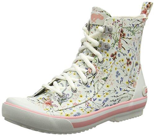 Rocket Dog Rainy, Stivali di Gomma Donna Off-White (Meadow Lane White)