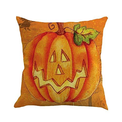 HARRYSTORE Happy Halloween 45cmX45cm Kissenbezüge Happy Fall Yall Leinen Sofa KissenbezugHappy Halloween 45cmX45cm Pillow Cases Happy Fall Yall Linen Sofa Cushion Cover